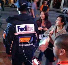 FedEx Human Charging Stations for Your Mobile Devices