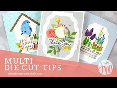 Today I am sharing many die cutting hacks that I think will be helpful to you. especially when working with lots of die cuts and cards! 3d Cards, Folded Cards, Your Cards, Card Making Tutorials, Card Making Techniques, Video Tutorials, Art Techniques, Jennifer Mcguire Ink