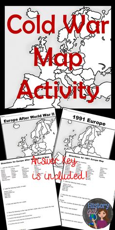 $ Includes 2 map worksheets: Europe after World War II Europe in 1991 Answer keys are included.