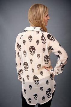 skull blouse for halloween