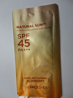 Review: The Face Shop Natural SunAQ Power Long-Lasting Sun Cream (SPF45,PA+++)