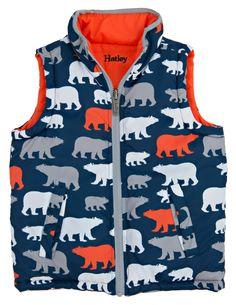 Hatley - Veste sans manches réversible pour garçon – Ours polaires 55$