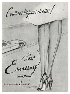 Bildresultat för vintage stockings advertisements