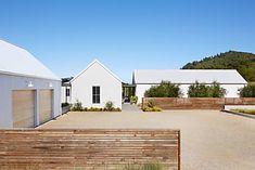 Exterior of modern design farmhouse
