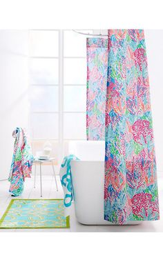 Beautiful Lilly Pulitzer® Sister Florals Shower Curtain... Must Buy For My New Apt