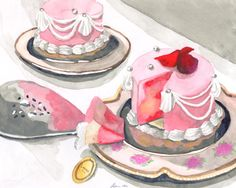 original Laduree Marie Antoinette pastry art print on Etsy