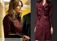 Kate Beckett (Stana Katic) wears this burberry trench coat in this week's episode of Castle. It is from Burberry. Sold Out.