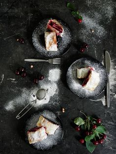 vegan sour cherry phyllo  pie