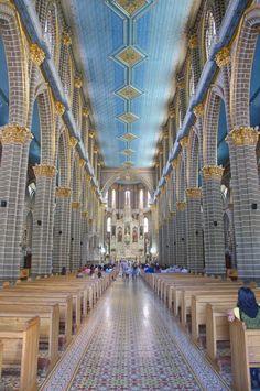 Colombia - Interior de la catedral de Jardin, Antioquia.