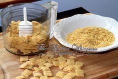 Vegan Gluten-Free Replacements: Gluten-Free Breadcrumbs recipe - Gluten Free Panko Breadcrumbs. Secret ingredient: Organic Rice Chex Cereal - http://www.chex.com/products/gluten-free-rice-chex?gclid=CIOj6YyUvL8CFYhafgodxrgAjw&gclsrc=aw.ds