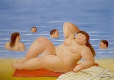 Fernando Botero Banistas oil painting for sale; Select your favorite Fernando Botero Banistas painting on canvas and frame at discount price. Renoir, Bikini Rouge, Plus Size Art, Beach Artwork, Naive Art, Art Graphique, Canvas Art Prints, Canvas Paintings, Figurative Art