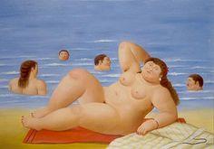 Fernando Botero.  Go u volumptious girl!