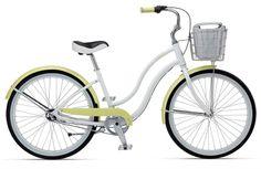women's white bicycles cruisers   Giant Simple Three W Womens Cruiser Bike 2012 (White/Yellow ...