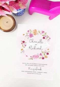 Create your dream day with these striking wedding invitations from Sail and Swan studio. Artist made and designed with love. Watercolor Wedding Invitations, Floral Invitation, Spring Wedding Inspiration, Wedding Ideas, Spring Wedding Decorations, Pastel Watercolor, Blush Pink Weddings, Pastel Flowers, Vintage Floral