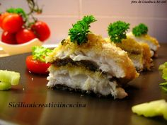 Pesce bandiera al gratin Fish Recipes, My Recipes, Italian Recipes, Linguine, Spanakopita, Fett, Yummy Food, Bread, Meals