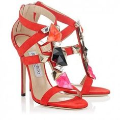 Latest Jimmy Choo Sandals Hot Sale, Buy Jimmy Choo Colada Flame Suede 120mm Sandals Outlet From www.jimmychoobays...