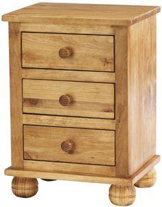 Antique Dorset Solid Pine Bedside Cabinet