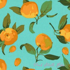 Martha Negley Market Mix Citrus Turquoise fabric, how great would this be in a dress or skirt?