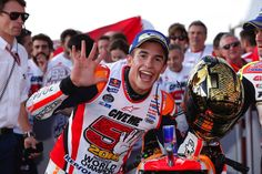 From Vroom Mag... Marc Marquez wins race and 2016 MotoGP World Championship in Japan