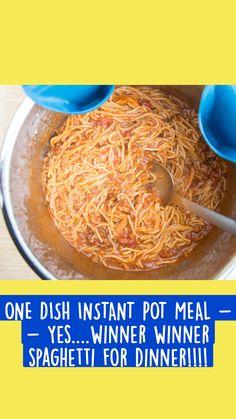 Pasta Sauce Recipes, Best Pasta Recipes, Vegetarian Recipes, Best Instant Pot Recipe, Instant Pot Dinner Recipes, Freezer Meals, Quick Meals, Cooker Recipes, Crockpot Recipes