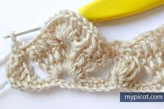 MyPicot | Free crochet patterns - I think this pattern could be used as the last few rows (pictured) of a border to the Roses & Ivy afghan.