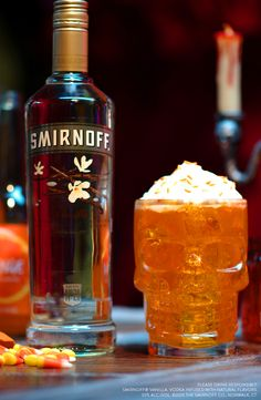 Throwing a spooky Halloween party and need some cocktail ideas? Mix up this delicious spiked orange cream soda. It's the perfect combo of vanilla sweetness and citrus flavor all in one drink.