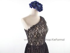 Lace Bridesmaid Dresses Black Lace Party Dresses  One by KeFormal