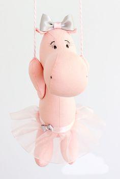 Baby Mobile Hot Air Balloon Hippo Nursery от sunshineandvodka