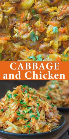 This succulent Cabbage and Chicken is hearty, filling, and so delicious. Just a few ingredients and about 15 minutes of active cooking time make up this amazing dinner. This is my Best Recipe yet! Sauteed Cabbage, Chicken And Cabbage, Cabbage Stir Fry, Cabbage Salad, Chicken Cabbage Stirfry, Salad Chicken, Diced Chicken, Cabbage Soup, Low Carb Recipes