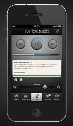 radio_home_big.jpg by Kapten Fredrik Ui Ux Design, Clean Design, Iphone Ui, Mobile Ui, Big