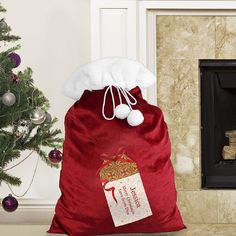 Luxury Personalised Present Plush Sack