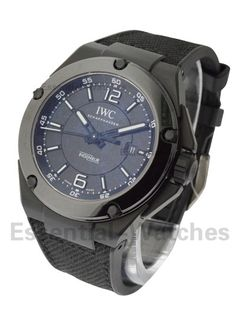 IWC IW322503  Ingenieur Automatic AMG Black Series - Black Ceramic on Rubber with Black Dial  Item ID - 54831 Model # - IW322503 Case - Black Ceramic Case Size - 46mm Movement - Automatic Dial - Black Bracelet - Black Rubber with Calfskin Inlay Retail Price - $12,300