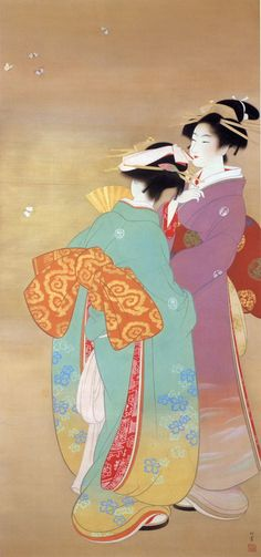 smokethereisfire: by Uemura Shoen (1875-1949 ), Japanese painter, 上村松園