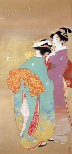 smokethereisfire:  by Uemura Shoen (1875-1949 ), Japanese painter, 上村松園
