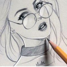 Fabulous Drawing On Creativity Ideas. Captivating Drawing On Creativity Ideas. Easy Pencil Drawings, Girly Drawings, Cool Art Drawings, Realistic Drawings, Beautiful Drawings, Drawing Faces, Drawing Hair, Drawing Drawing, Amazing Drawings