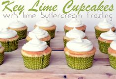 Key Lime Cupcakes with Lime Buttercream Frosting