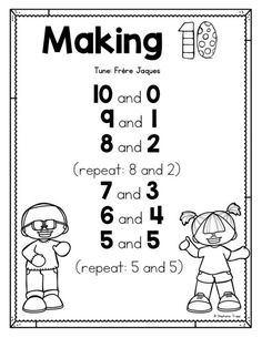Making 10 Activities - Primary Theme Park Anchor Charts First Grade, Kindergarten Anchor Charts, Numbers Kindergarten, First Grade Activities, 1st Grade Math, Math Activities, Grade 1, Second Grade, Math Manipulatives