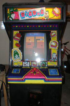 Dig Dug (Arcade Cabinet Side Art) (Namco) | Video Game Posters ...