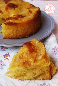 TORTA ANANAS E RICOTTA ricetta senza burro Torte Cake, Cake Cookies, Biscotti, Italian Recipes, French Toast, Bakery, Cheesecake, Sweets, Cooking