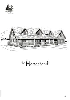 Our Homestead model is 2,682 square feet. For a floor plan or more info, contact sales@hiawatha.com.