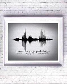 Speech Pathologist Sound Wave Art Canvas, Speech Language Pathologist, Speech Therapist Gift, Autism Awareness Gift, Sound Wave Art Print by SoundArtByBrooke on Etsy https://www.etsy.com/listing/400699483/speech-pathologist-sound-wave-art-canvas