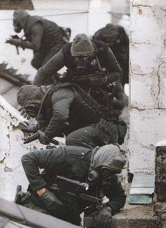 British SAS during the Iranian Embassy siege - 1980