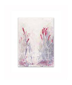 Fuchsia Maroon  Winter Flower  Art  Watercolor PRINT my by mallalu