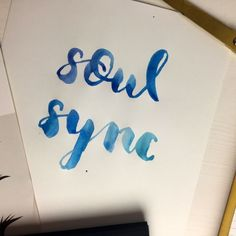 Brushmeetspaper Soul Sync Brush Lettering Watercolor Wasserfarbe Ankommen Create Quote Blogger Munich Neues Jahr München
