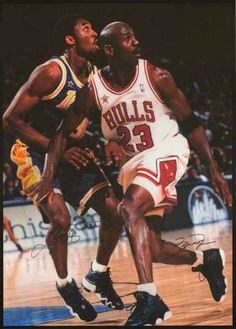 e5d7d7997cc3 Michael Jordan and Kobe Bryant Basketball Poster 24x34