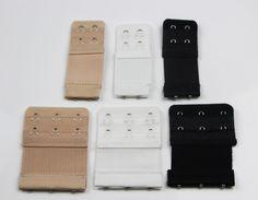 fa64d5ff4a Bra Extender Extension Elastic 2   3 Hooks Clip On Strap Black White Nude  Beige