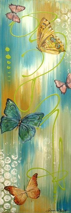 Butterfly Bliss 2 Painting by Jean Plout