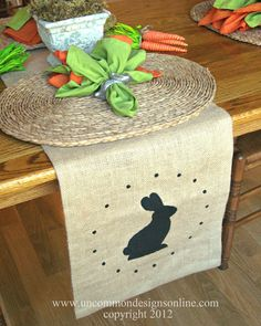 UNCOMMON DESIGNS... bunny runner      Home  Advertising  FAQs  Project Gallery  Holiday Projects  Link Parties  Our Shop