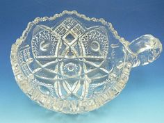 Vintage IMPERIAL Pressed Glass Nappy Dish