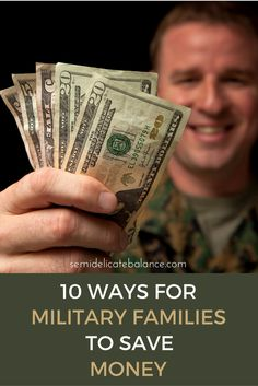 Tips and advice to save money for military families and budget properly